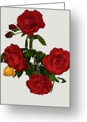 Standing Out From The Crowd Greeting Cards - Say It With Flowers Greeting Card by ©Daniela White Images