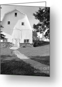 Round Barn Greeting Cards - Saylesville Barn Greeting Card by Jan Faul