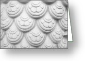 Closeup Reliefs Greeting Cards - Scale Of Naga Statue Greeting Card by Phalakon Jaisangat