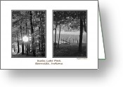 Lake Park Greeting Cards - Scales Lake Park Collage Greeting Card by DigiArt Diaries by Vicky Browning