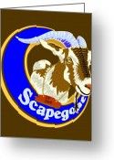 T-shirt Greeting Cards - Scapegoat for Hire Greeting Card by Laura Brightwood