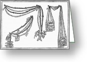 Rosary Greeting Cards - Scapular And Rosary Greeting Card by Granger