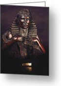 Sunset Sculpture Greeting Cards - Scarab Hart Greeting Card by Larkin Chollar