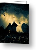 Scary Photo Greeting Cards - Scarecrow Greeting Card by Bob Orsillo