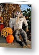 Scarecrow Greeting Cards - Scarecrow Greeting Card by Robert Harmon