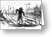 Cornfield Greeting Cards - Scarecrows Greeting Card by Granger