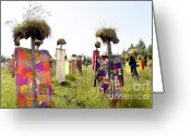 Scarecrow Greeting Cards - Scarecrows Greeting Card by Heiko Koehrer-Wagner