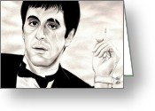 Photorealism Greeting Cards - Scarface Greeting Card by Michael Mestas
