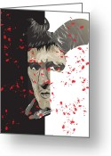 Award Digital Art Greeting Cards - Scarface Greeting Card by Mike  Haslam