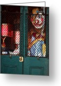 Puppet Greeting Cards - Scary Orleans Greeting Card by John Rizzuto