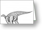 Addison Greeting Cards - Scelidosaurus Greeting Card by Karl Addison