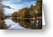 Saco River Greeting Cards - Scene along the Saco River Greeting Card by Cheryl Swift
