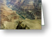 Colorado Framed Prints Greeting Cards - Scenic Grand Canyhon and Colorado River Greeting Card by M K  Miller