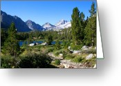 Mountain View Greeting Cards - Scenic Mountain View Greeting Card by Chris Brannen