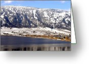 Mountain Vineyards Greeting Cards - Scenic Oyama Greeting Card by Will Borden