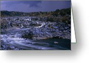 Great Falls Greeting Cards - Scenic View Of Great Falls Greeting Card by Kenneth Garrett