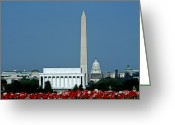 Lincoln Memorial Photo Greeting Cards - Scenic View Of Washington D.c Greeting Card by Kenneth Garrett