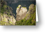 French Polynesia Greeting Cards - Scenic View On Fatu Hiva Island Greeting Card by Tim Laman