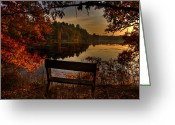 Fall Colors Greeting Cards - Scenic View Greeting Card by Thomas Young