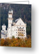 King Ludwig Greeting Cards - Schloss Neuschwanstein Greeting Card by Andre Goncalves