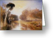 Romanticist Greeting Cards - Schloss Rosenau Greeting Card by Joseph Mallord William Turner
