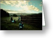 Summer In The High Country Greeting Cards - School Days Greeting Card by Arne Hansen