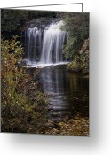 Fall Photographs Greeting Cards - Schoolhouse Falls Greeting Card by Rob Travis