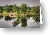 Lake Park Greeting Cards - Schoonover Bridge Greeting Card by Pamela Baker