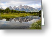 Grand Tetons Greeting Cards - Schwabacher Landing Grand Tetons Greeting Card by Teresa Zieba
