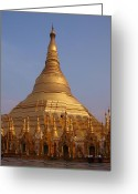 Burma Greeting Cards - Schwedagon Myanmar 193 Greeting Card by Per Lidvall