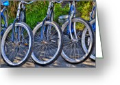 Wheels Greeting Cards - Schwinns Greeting Card by Paul Wear