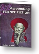 Martians. Greeting Cards - Science Fiction Cover, 1954 Greeting Card by Granger