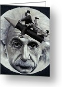 Man In The Moon Greeting Cards - Scientific Comedy Greeting Card by Ross Edwards