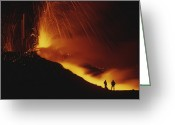 Scientists Greeting Cards - Scientists Stand Close To The Action Greeting Card by Carsten Peter