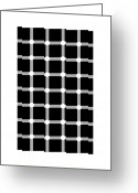 Trick Greeting Cards - Scintillating Grid Illusion Greeting Card by