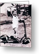 Vintage Outhouse Greeting Cards - Scooter 1941 Greeting Card by Don Wolf
