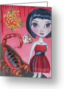 Jaz Greeting Cards - Scorpio Greeting Card by Jaz Higgins