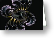 Spider Digital Art Greeting Cards - Scorpion-Spider Hybrid-Fractal Art Greeting Card by Lourry Legarde
