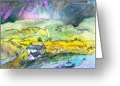 Sea Cottage Greeting Cards - Scotland 21 Greeting Card by Miki De Goodaboom