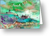 Sea Cottage Greeting Cards - Scotland 25 Greeting Card by Miki De Goodaboom