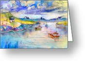 Sea Cottage Greeting Cards - Scotland 26 Greeting Card by Miki De Goodaboom
