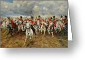 Soldiers Painting Greeting Cards - Scotland Forever Greeting Card by Elizabeth Southerden Thompson