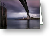 Scotland Greeting Cards - Scotland Skye Bridge Greeting Card by Nina Papiorek