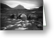 Nature Fine Art Greeting Cards - Scotland Sligachan River Greeting Card by Nina Papiorek