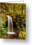 Fall Photographs Greeting Cards - Scott Falls Greeting Card by Michael Peychich