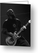 Rock And Roll Glass Greeting Cards - Scott Ian Anthrax Reunion  Greeting Card by Christopher  Chouinard