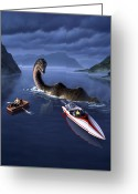 Dinosaur Greeting Cards - Scottish Cuisine Greeting Card by Jerry LoFaro