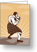 Game Greeting Cards - Scottish Games Greeting Card by Aloysius Patrimonio