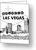Freedom Fighter Brand Greeting Cards - Scraplive TV or Bringing Vegas to You Greeting Card by Scarlett Royal
