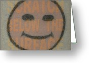 Face Greeting Cards - Scratch Below The Surface Greeting Card by James W Johnson